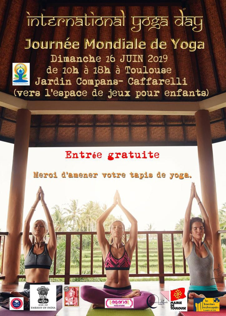 Affiche Journée Internationale du Yoga Toulouse